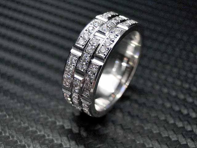Custom Made 14k White Gold Mens Diamond Wedding Band Engagement Ring Mensdiamondrings Mens Diamond Wedding Bands Mens Diamond Wedding Diamond Wedding Bands
