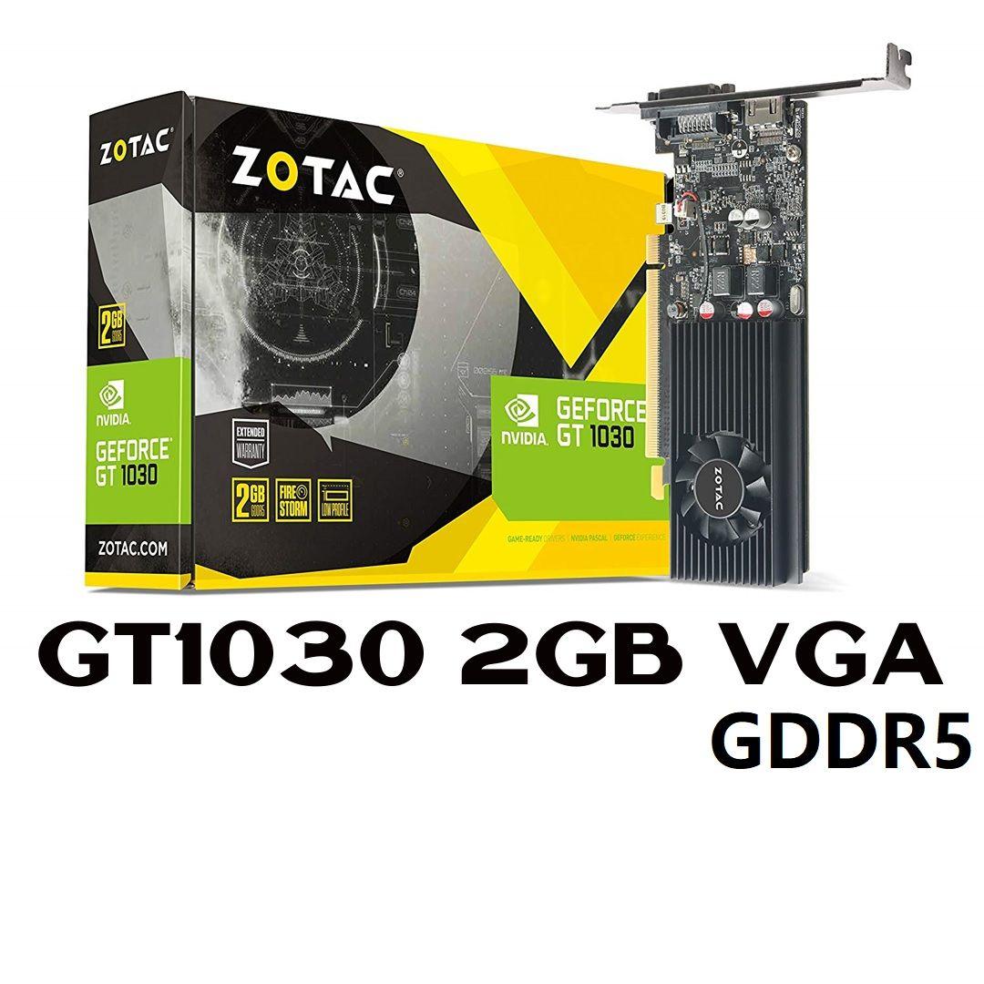 Zotac Gt1030 2gb Vga Nvidia Geforce Zt P10300e 10l Personal Computer Center Graphic Card Nvidia Vga