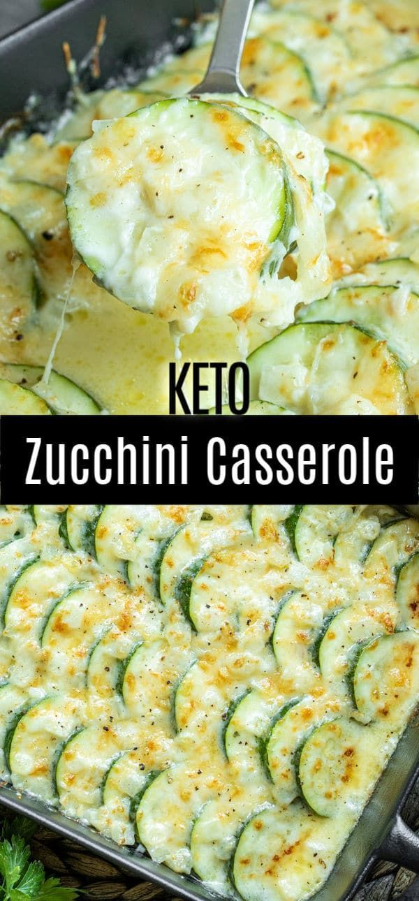 Photo of Cheesy Baked Zucchini Casserole {Keto}
