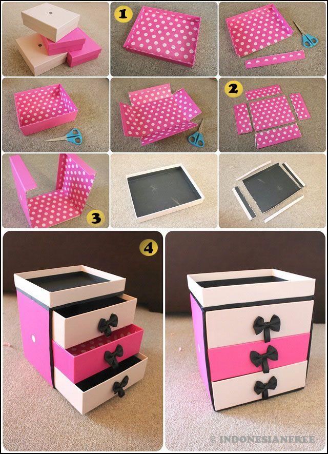 Ide Kreatif Cara Membuat Kotak Kosmetik Dari Kardus Bekas