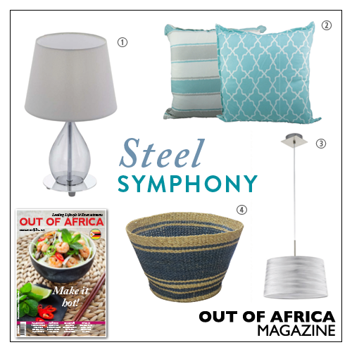 Get Shopping with OUT OF AFRICA: FEBRUARY Issue OUT NOW!  Turn your home into an oasis of elegance with these subtle yet beautiful products. 1. RINEIRO TABLE LAMP $49.50 this sleek table light is a wonderful choice for a contemporary living room bedroom or hallway. Available at Lighting World. 2. SCATTER CUSHIONS $28 & $30 create a fresh look in any room of your home with these stylish cushions. Available at Aura. 3. STRAW BASKET $90 an inventive and versatile basket that you can use to…