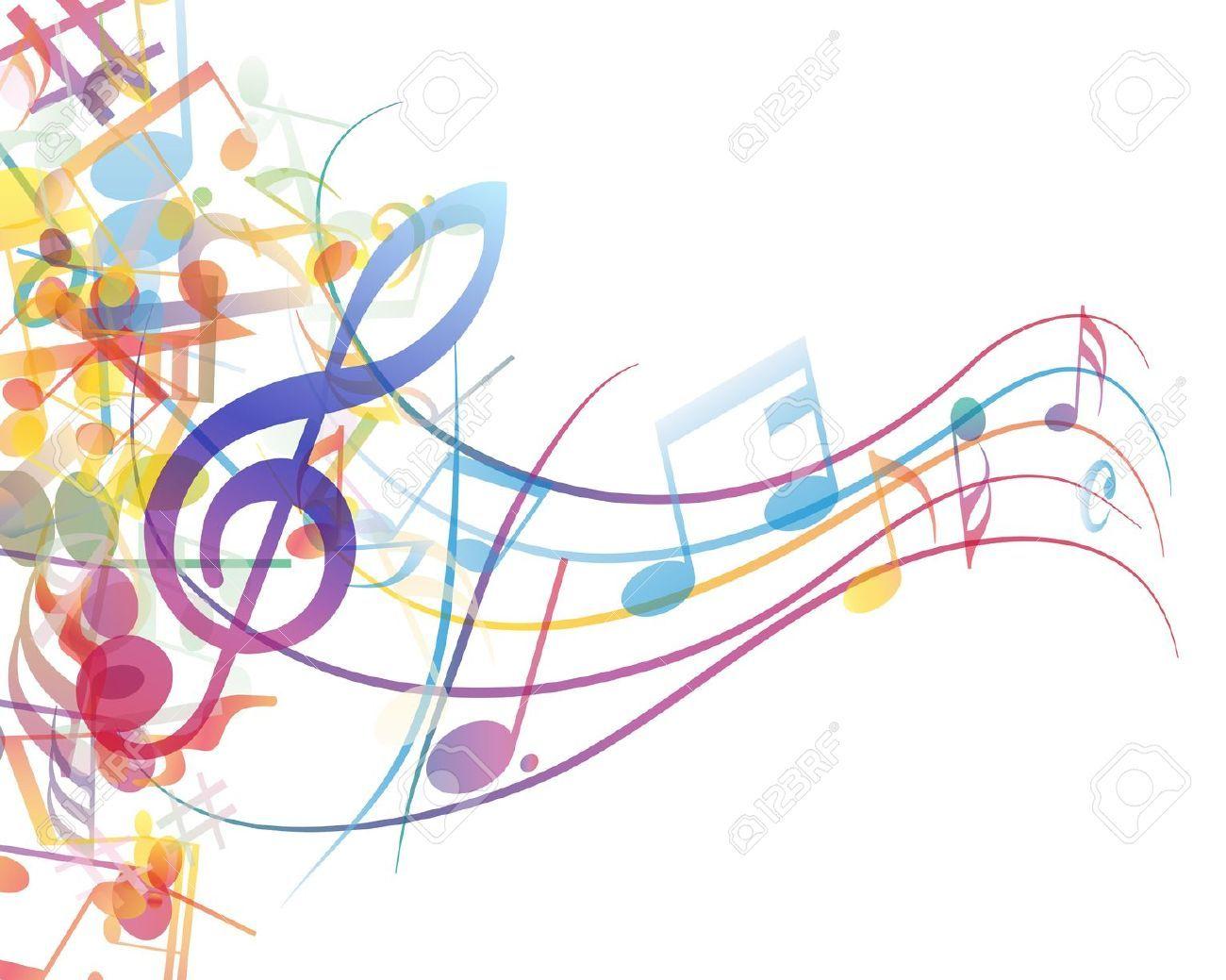 vectores notas musicales colores Buscar con Google