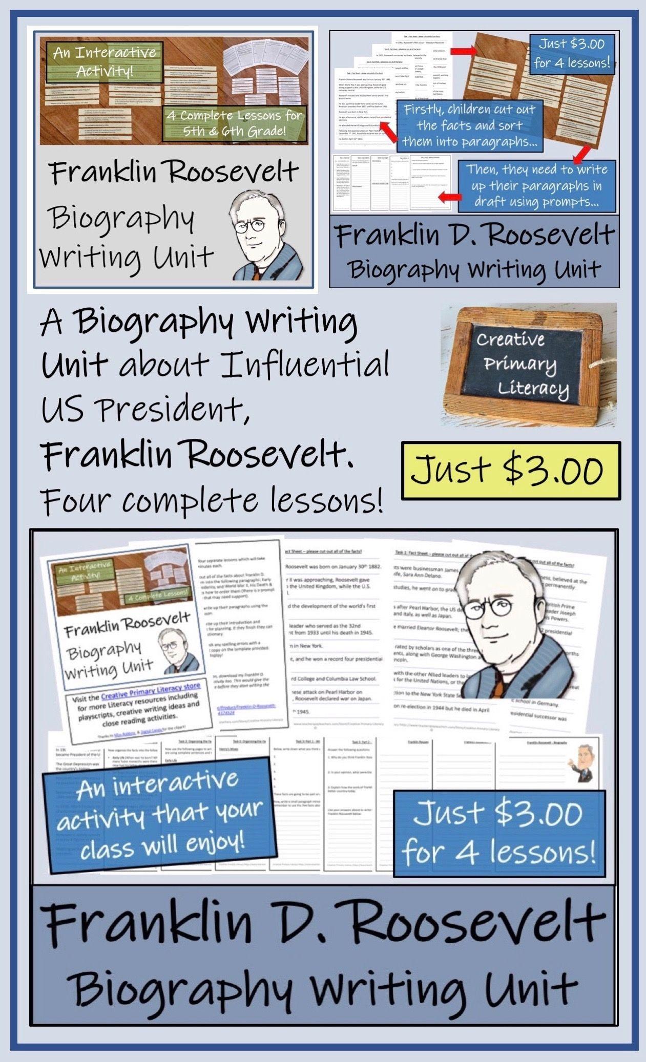 Franklin d roosevelt 5th grade 6th grade biography