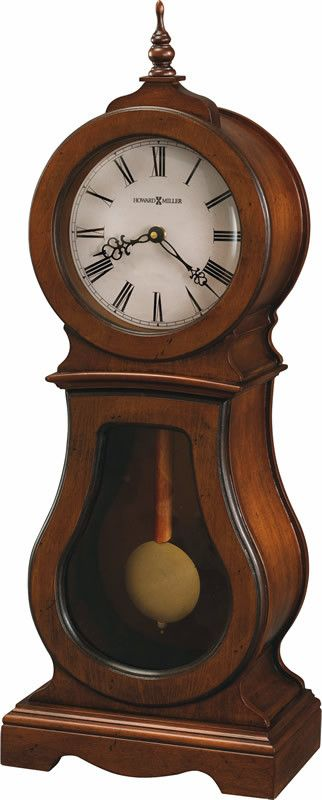 Cleo Mantel Clock in Chestnut 635162 by Howard Miller