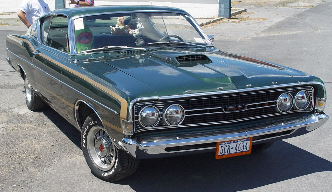 1968 Ford Torino Green Front Angle Ford Torino Classic Cars