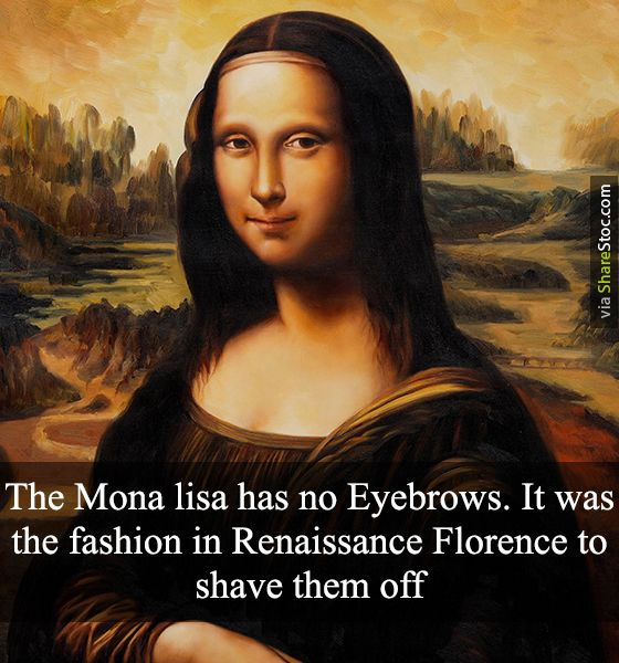 The Monalisa Has No Eyebrows Crazy And Unbelievable Facts