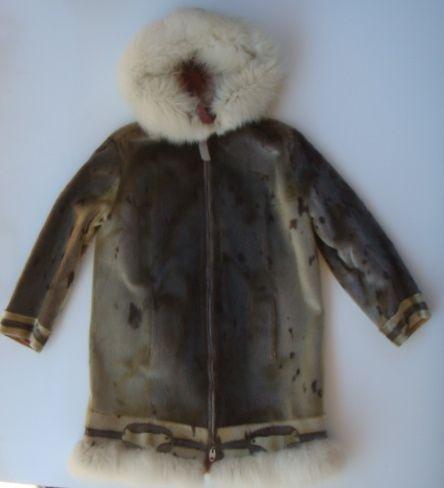 Eskimo Seal Skin Coat Vintage Aklavik Preban Fur Jacket