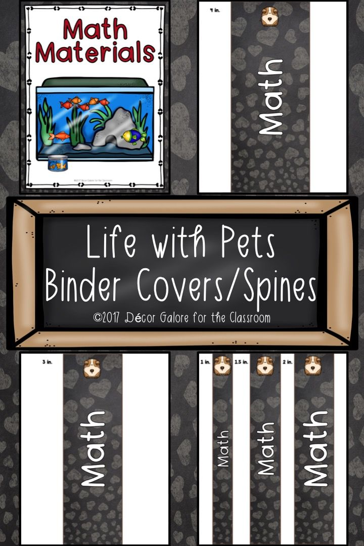 15 different life with pets binder covers and 5 different