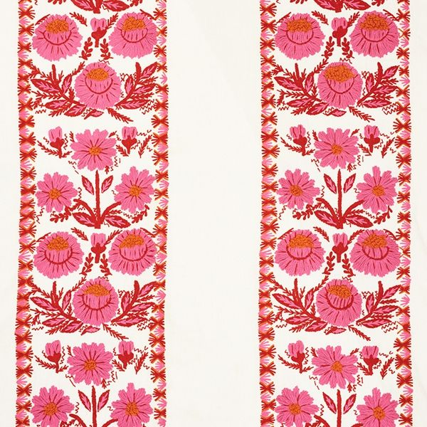 Margerite Embroidery Fabric This Lovely Hand Embroidered Floral