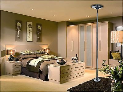 Stripper pole in the bedroom
