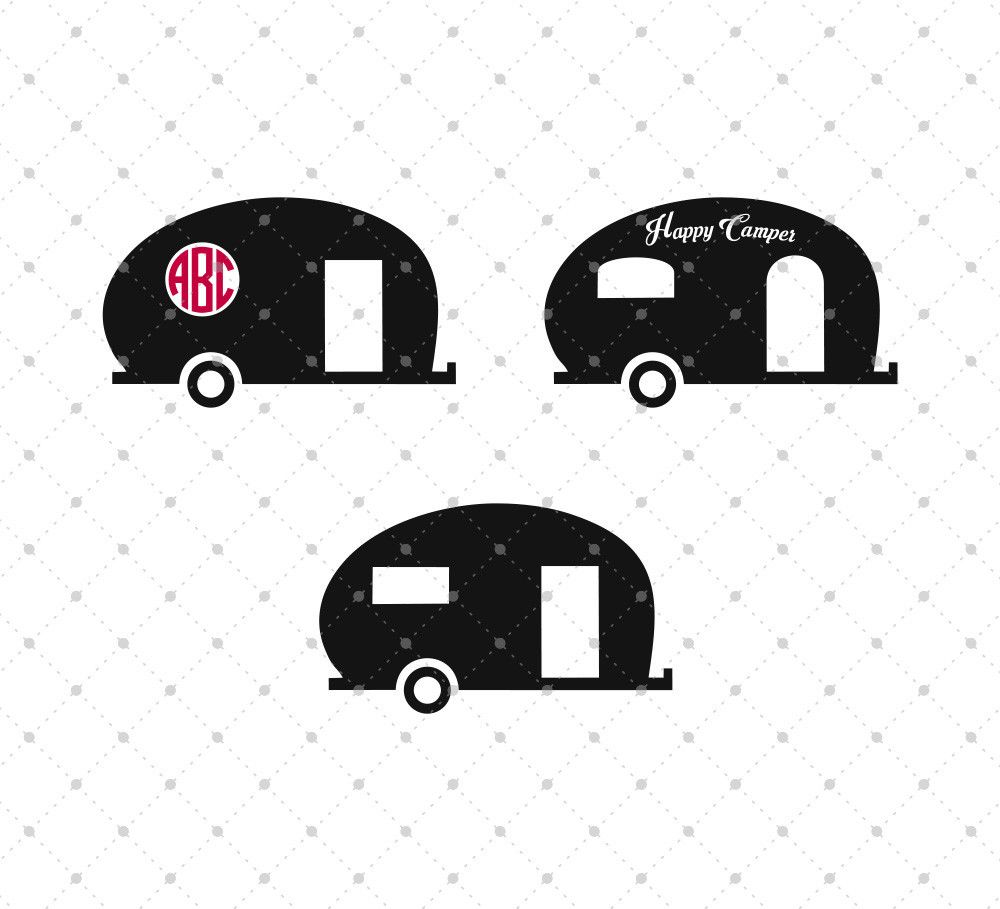 Vintage Camper Van Adventure Travelling SVG Cut Files For Cricut And Silhouette Cutting Scrapbooking Card Making Paper Crafts