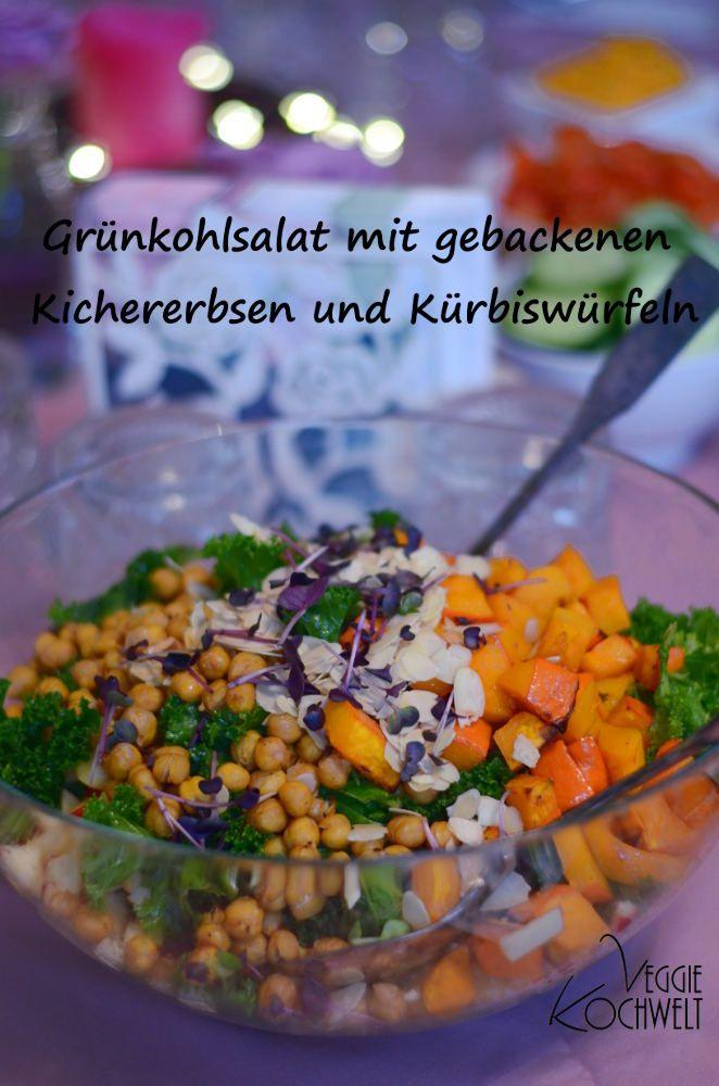 Weihnachtsmenü - Vorspeise: Grünkohlsalat mit gebackenen ...