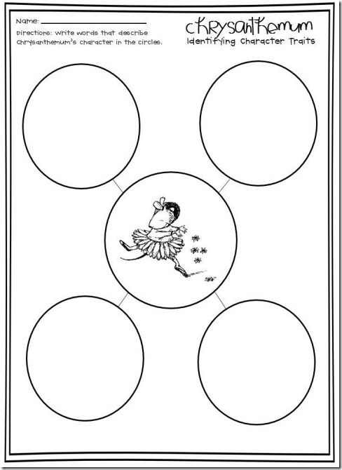 Chrysanthemum by Kevin Henkes Coloring Pages | ... story mapping ...