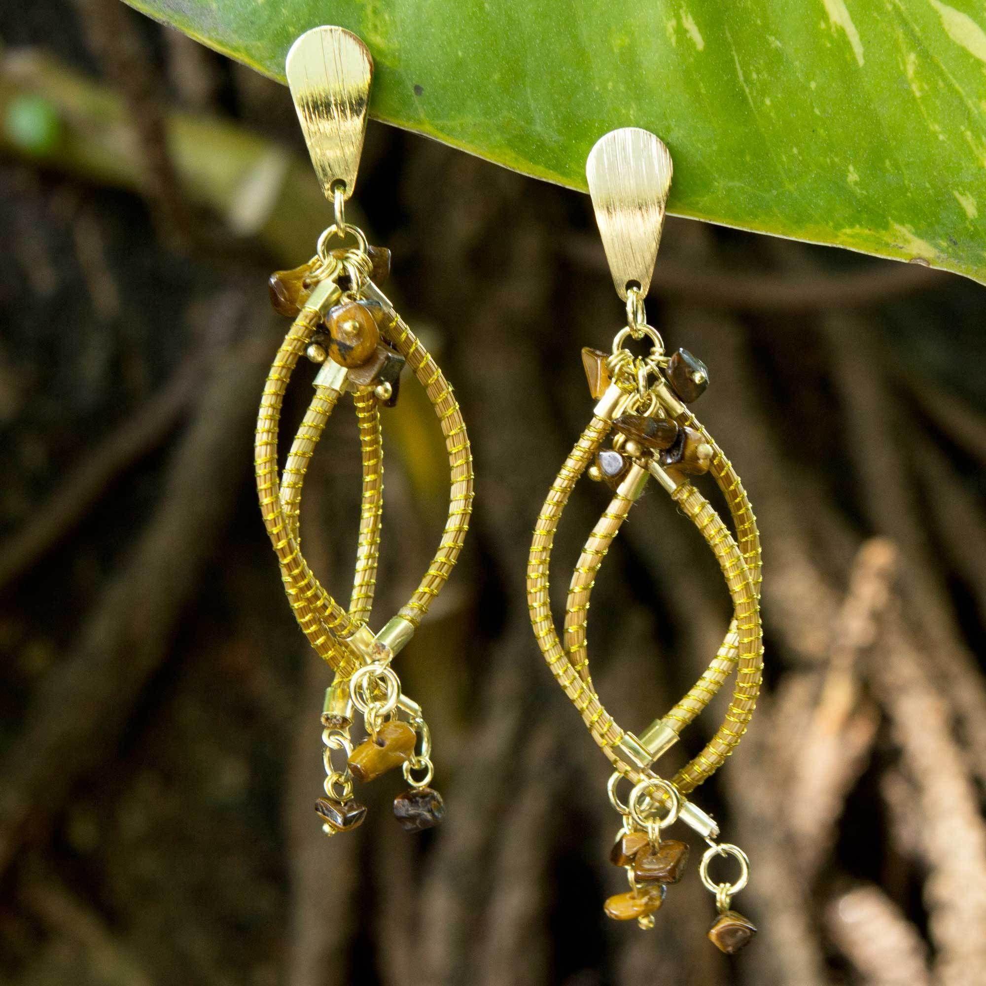 Novica Gold accented dangle earrings, Kuta Kite