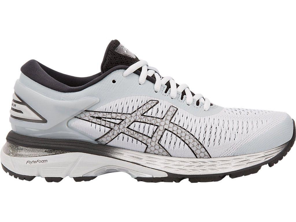 Women S Gel Kayano 25 Mid Grey Black Running Shoes Asics Asics Running Shoes Asics Women Asics