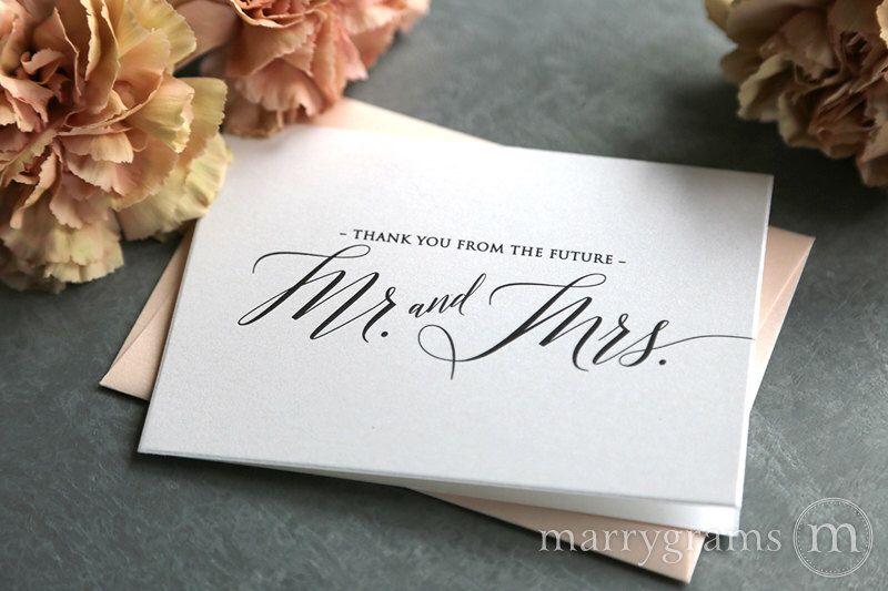 Bridal shower thank you cards wedding newly engaged