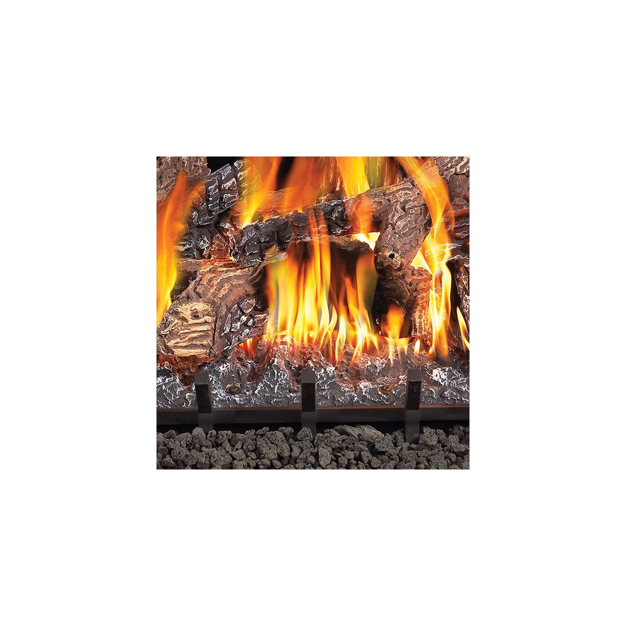 Fiberglow 24 Inch Vent Free Log Burner Set Insert For Natural Gas