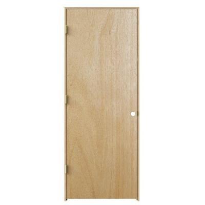 Jeld Wen 30 In X 80 In Woodgrain Flush Unfinished Hardwood Single Prehung Interior Door Thdjw160700350 The Ho With Images Prehung Interior Doors Prehung Doors Interior