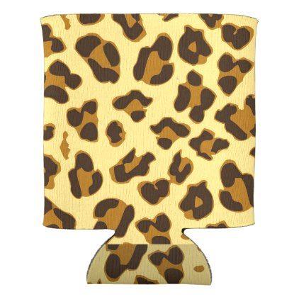 Leopard Animal Print Pattern Can/Bottle Cooler   Kitchen Gifts Diy Ideas  Decor Special Unique