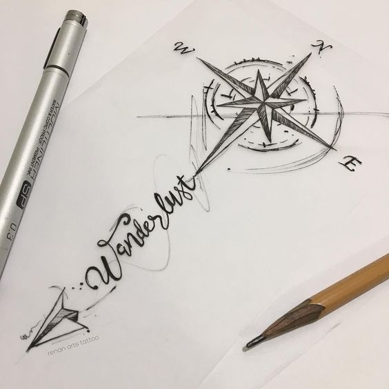 Photo of 65 amazing compass tattoo designs and ideas – #great #compass #designs #id …