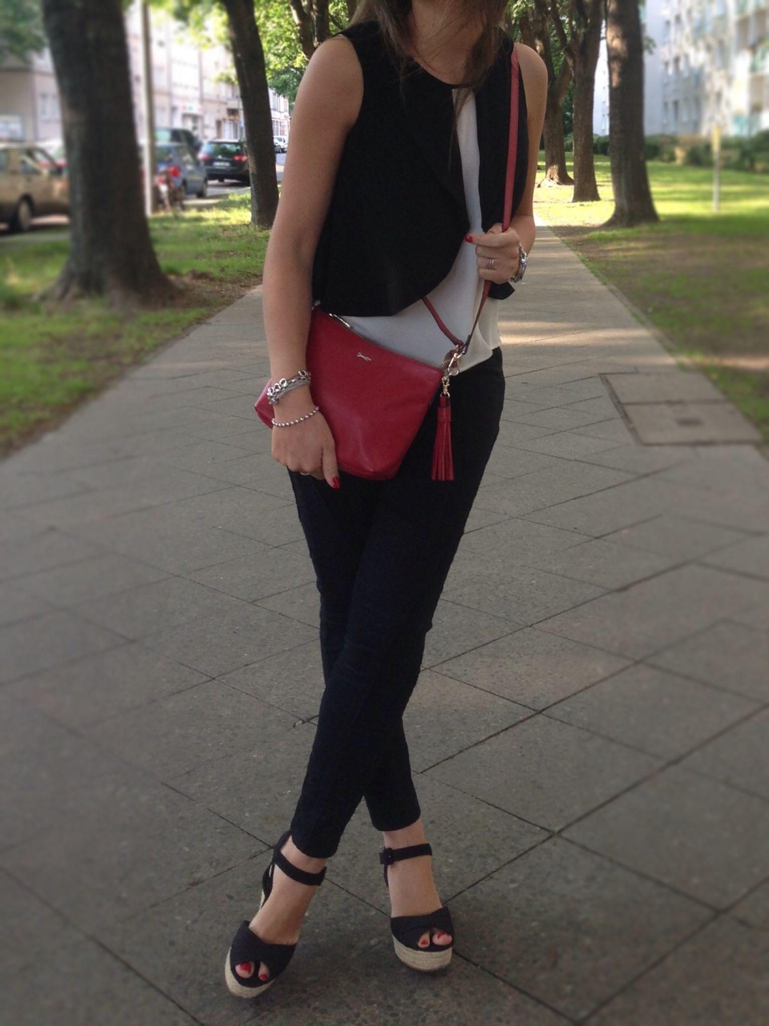 Rojo Moda Fashion De Y Blog Negro Bolso Look Blog Blanco 6zAw6