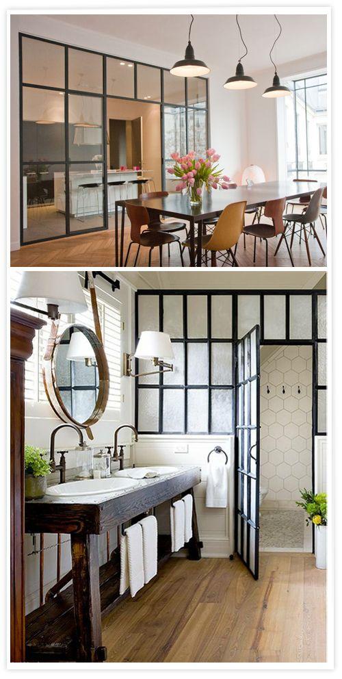 Indoor windows with an industrial style ventanas interiores estilo industria - Fenetre metal style atelier ...