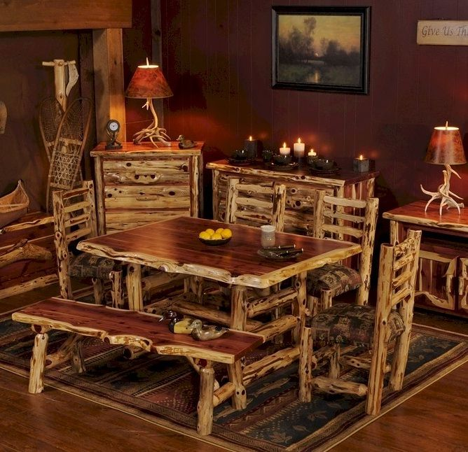 Aromatic Cedar Dining Table From The Log Furniture