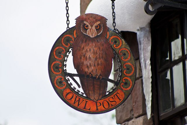 Awesome Owl Post sign from WWoHP