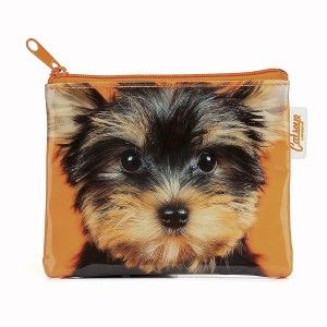 Catseye. Yorkie on Orange Coin Purse. - Cat and Dog Crazy