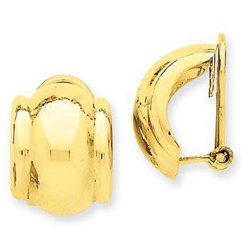 14K Omega Clip Non-Pierced Earrings