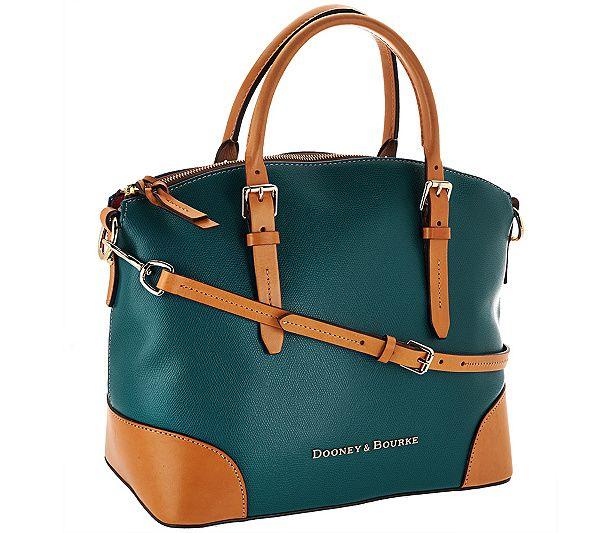 Handbags Antimalwareteamca Info Dooney Bourke Embossed Pebble Leather Domed Satchel Qvc