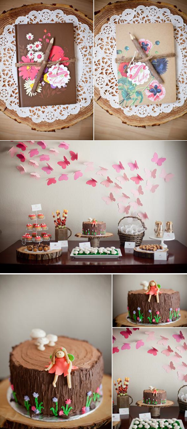 Woodland animal girly birthday party with so many cute and simple ideas! Via Karas Party Ideas