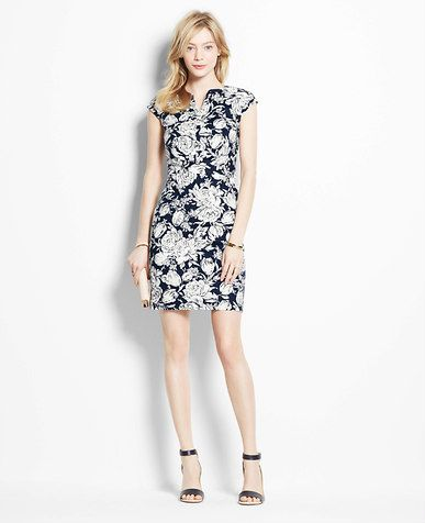f0369c91da2b Petite Evening Floral Dress | *Ann Taylor* | Pinterest