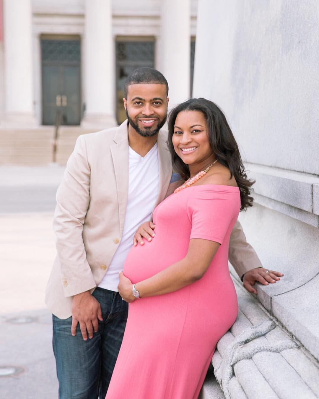 This gorgeous couple welcomed home their precious son blue