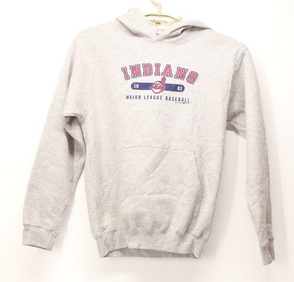 brand new 3f4c2 2c5a6 Gear Kid's Grey Baseball Hoodie Indians MLB Size Large #gear ...