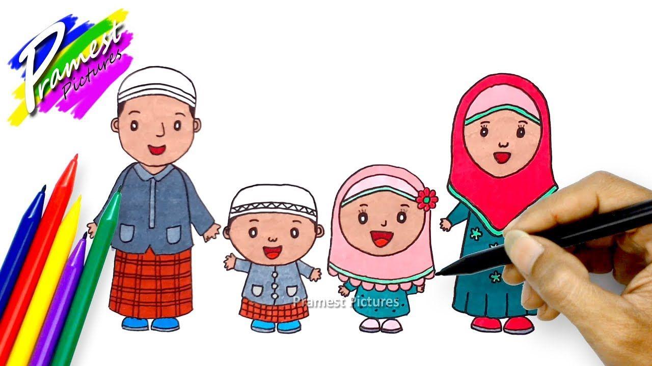 Contoh Gambar Kartun Foto Keluarga Kartun Lukisan Gambar Gambar Kartun