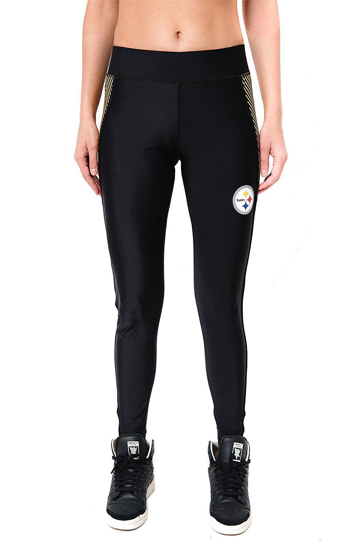 86317e77 Amazon.com: NFL Women's Pittsburgh Steelers Leggings Fitness Workout ...