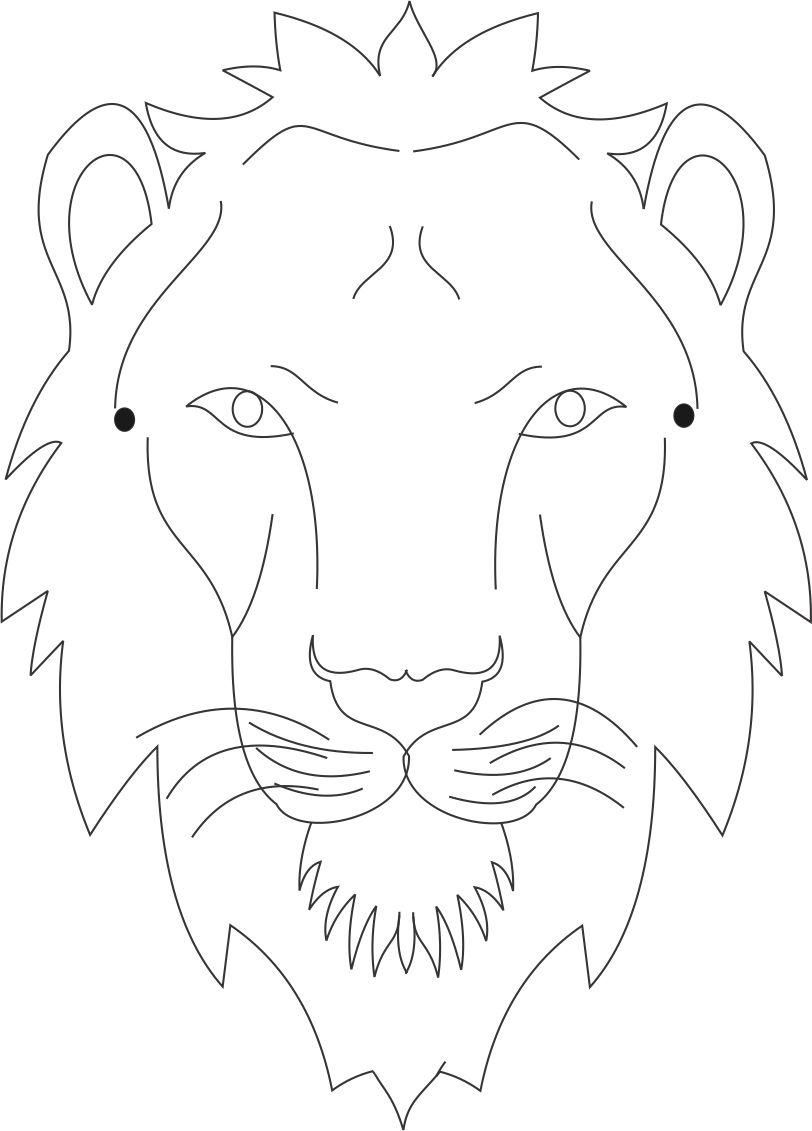 Tiger mask printable coloring page for kids | fašiangy | Pinterest ...