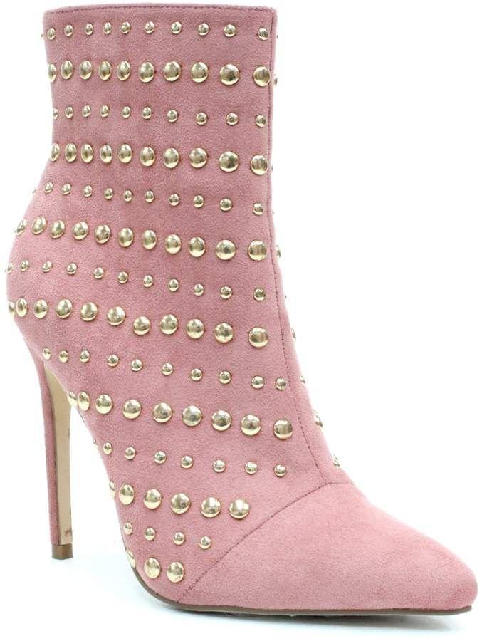 Elegant Footwear Brissa Studded Pointed Toe Boot xcHOj