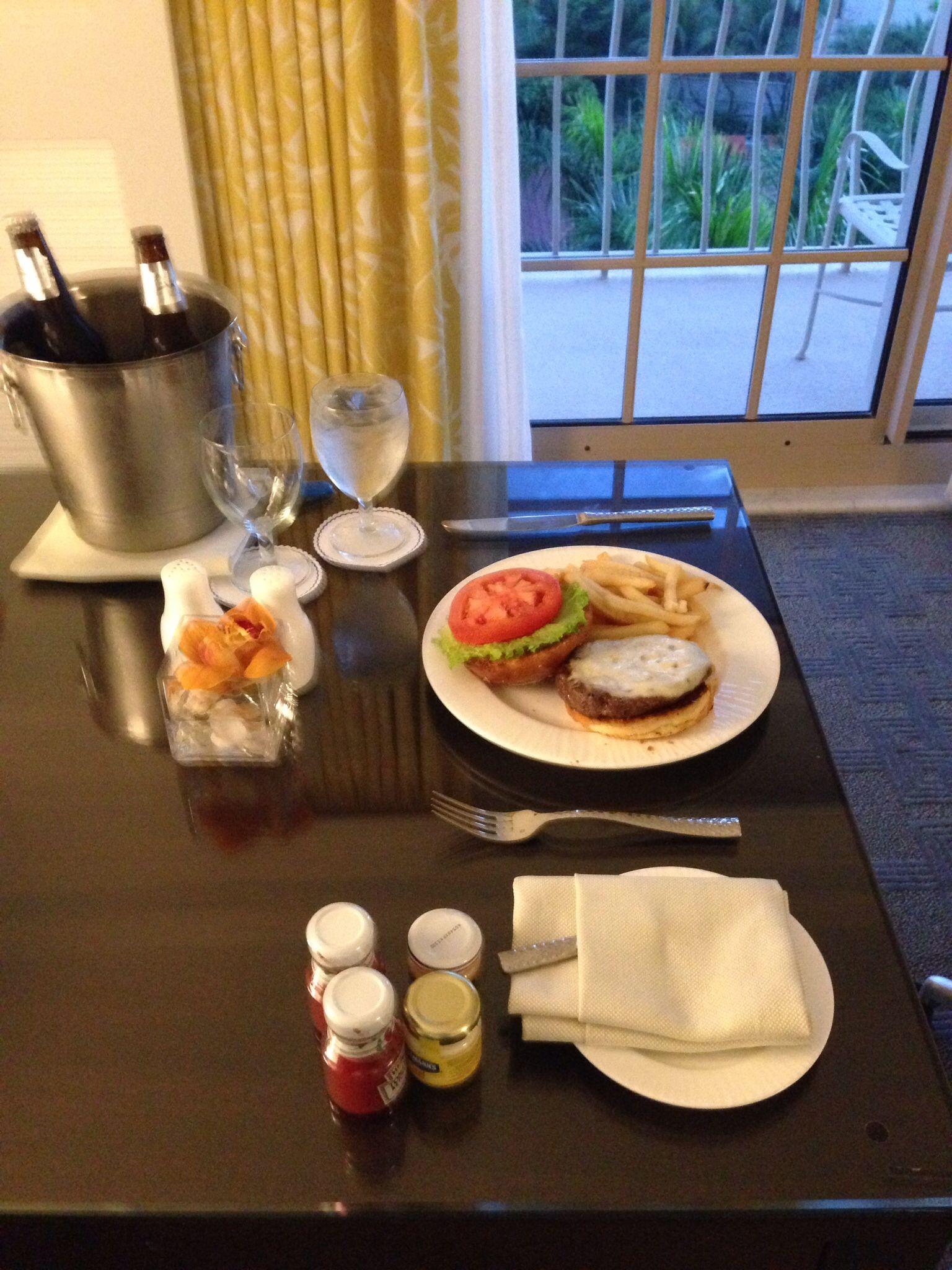 Room service at the Ritz Carlton in Naples Fl. Feb. 2014   Dinner ...
