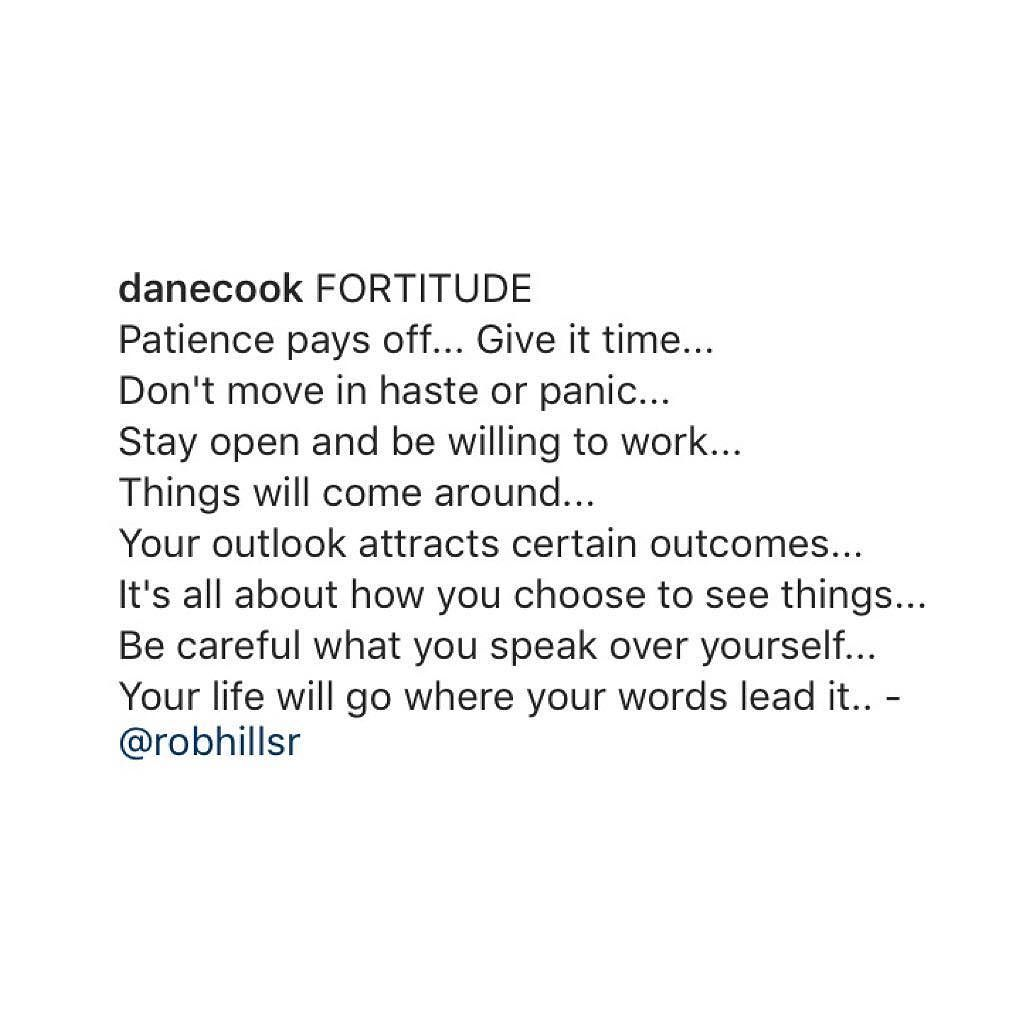 Much love to @danecook for spreading today's word of the day - Fortitude! by robhillsr