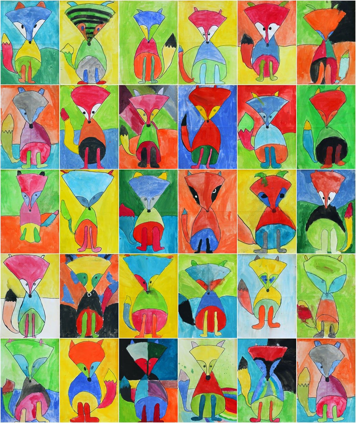 Art With Mr Hall Fantastic Fauvist Foxes Art Class