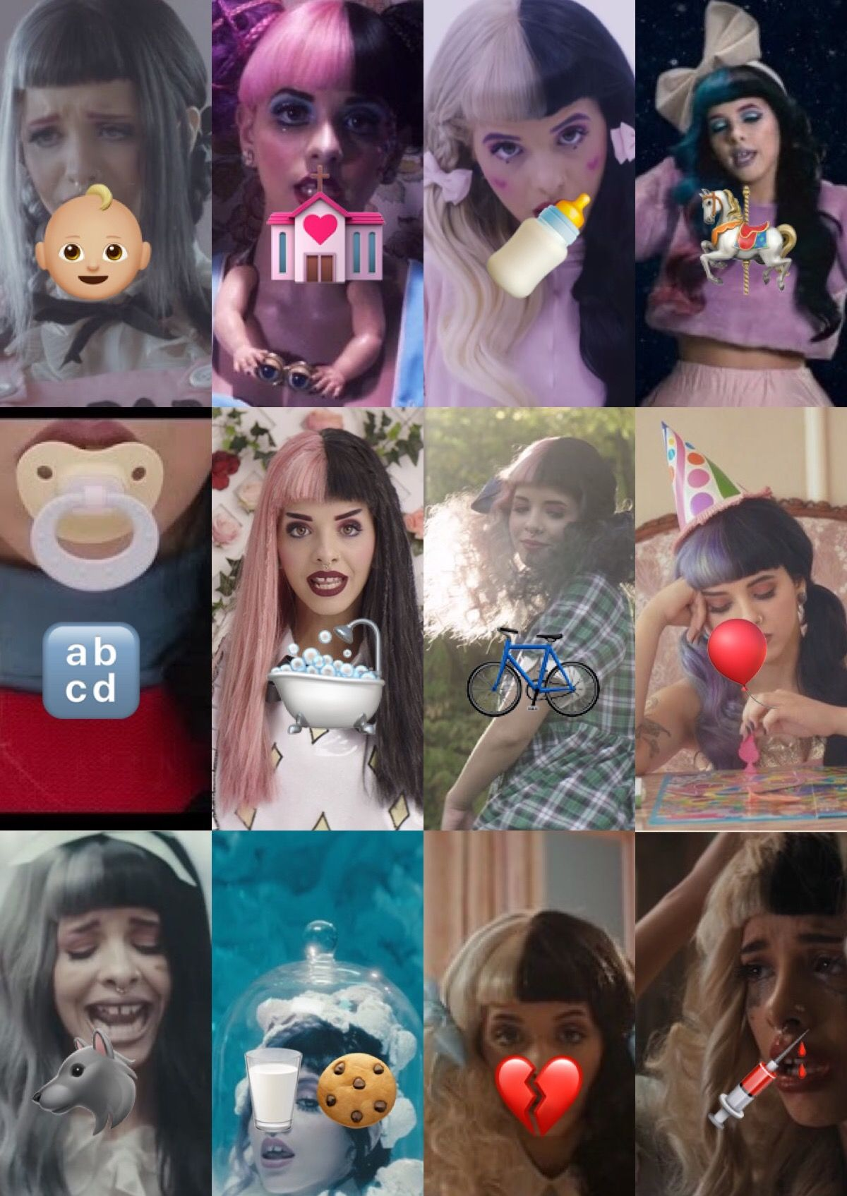 Melanie Martinez Crybaby Described With Emojis Even Tho Mad Hatter Isn T There By Rileyogden Melanie Martinez Lyrics Melanie Martinez Melanie Martinez Music