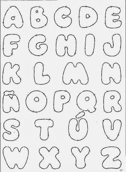 Plantilla De Letras Para Carteles Imagui Letras Pinterest