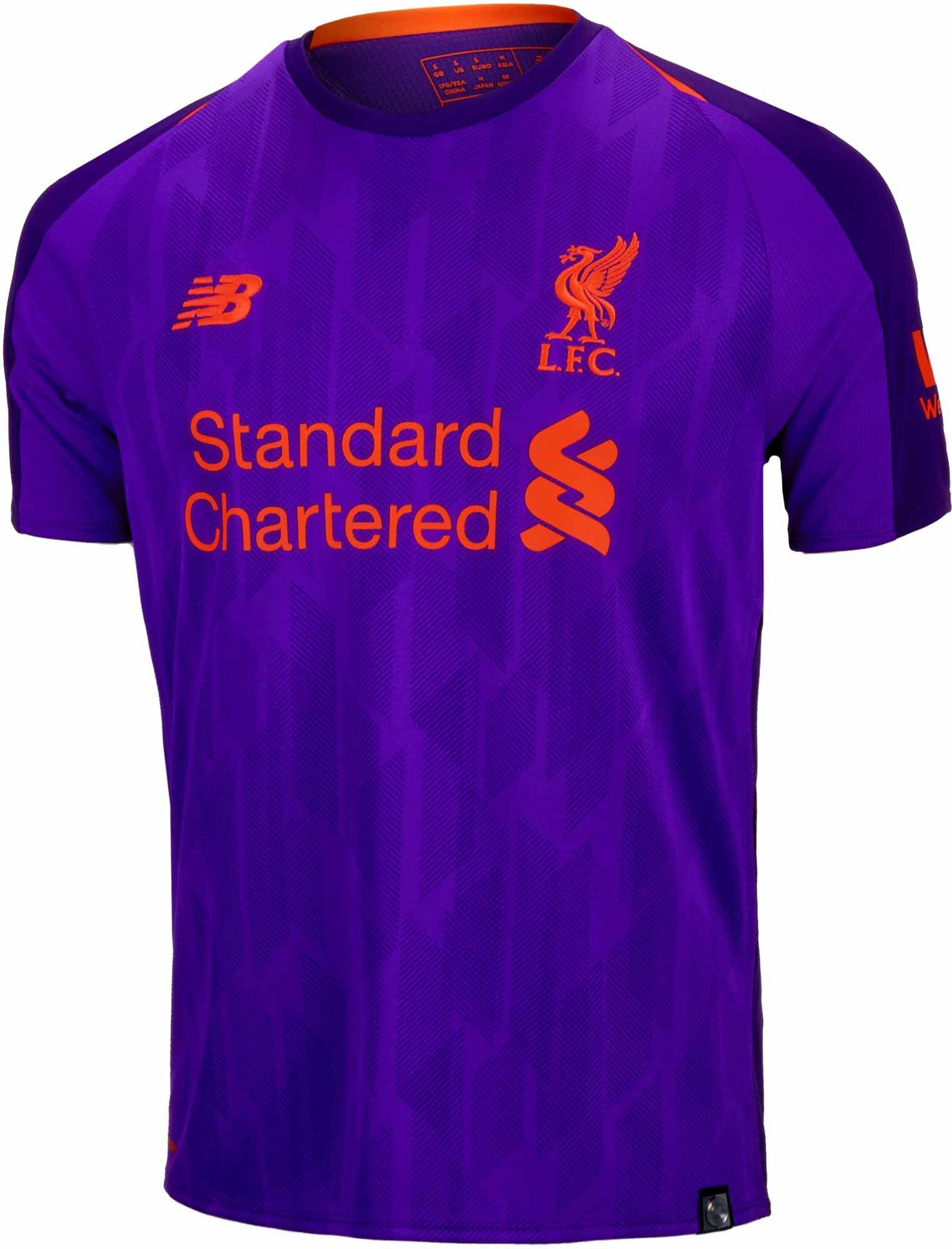 2018 19 Kids NB Liverpool Away Jersey. Hot at www.soccerpro.com 44deb9abc