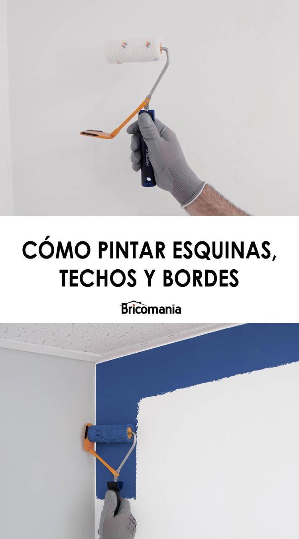 Cómo Pintar Esquinas Techos Y Bordes Con Un Rodillo Recortador Hogarmania Techos Como Pintar Rodillos Para Pintar