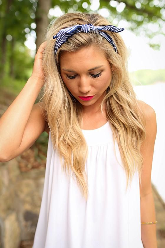 Sailor Stripe Bandana in Navy
