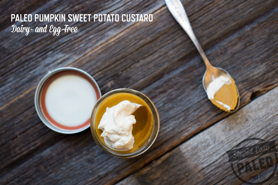 Paleo Pumpkin Sweet Potato Custard—Dairy-Free & Egg-Free | stupideasypaleo.com