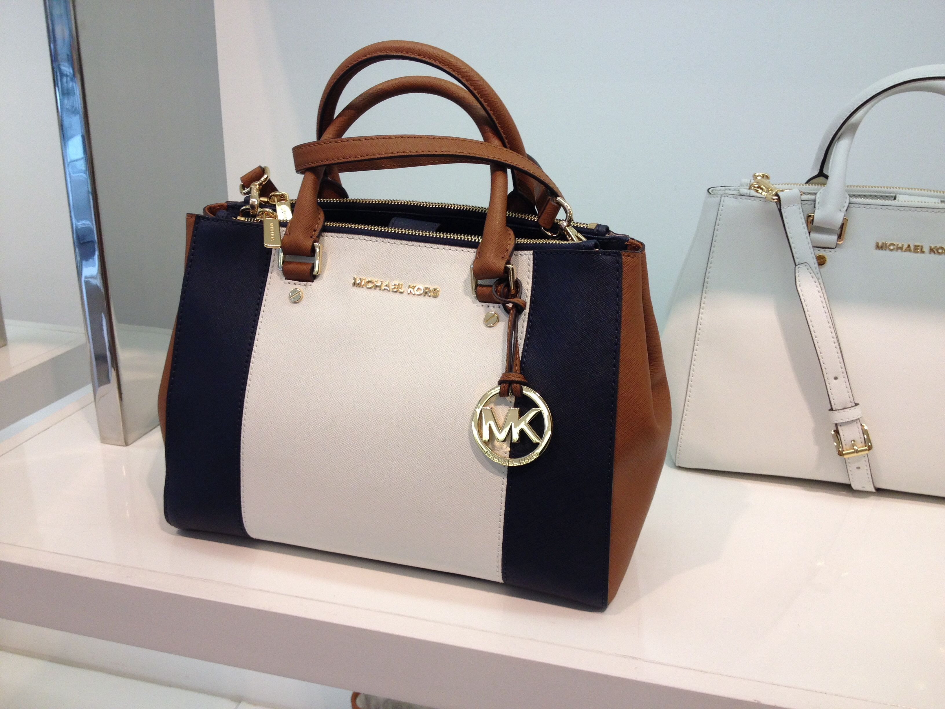 Michael kors bags in dubai - Sutton Center Stripe By Michael Kors