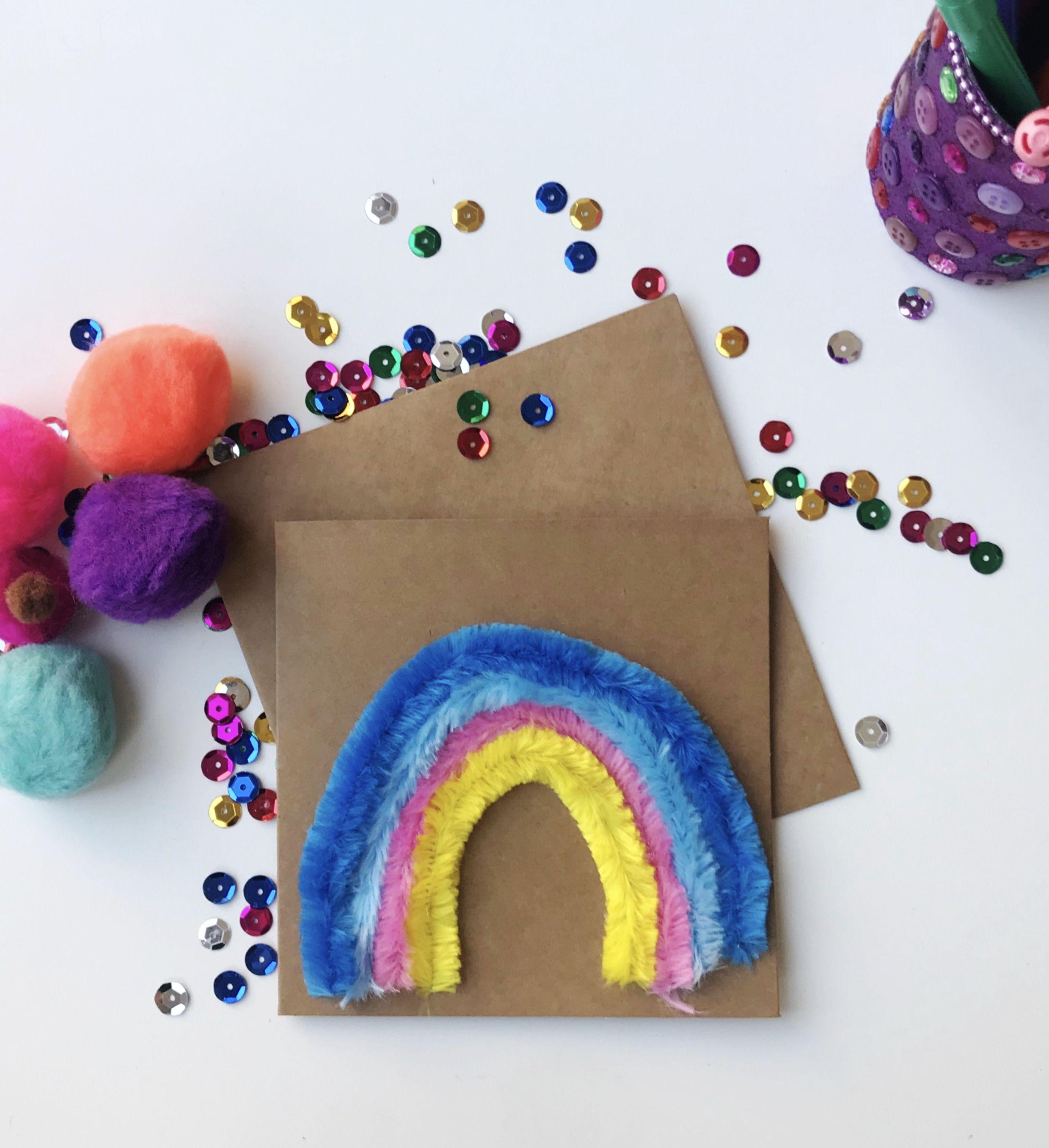 rainbow birthday card in 2020  rainbow card handmade
